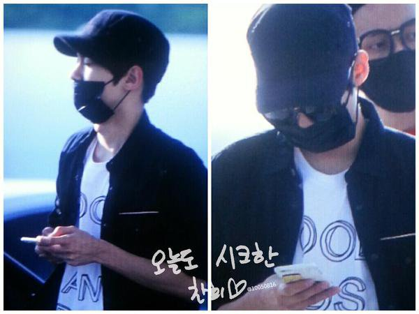 Aperçu] 150906 Teen Top Chunji à l'aéroport d'Incheon en direction de Fukuoka, au Japon PHOTOS