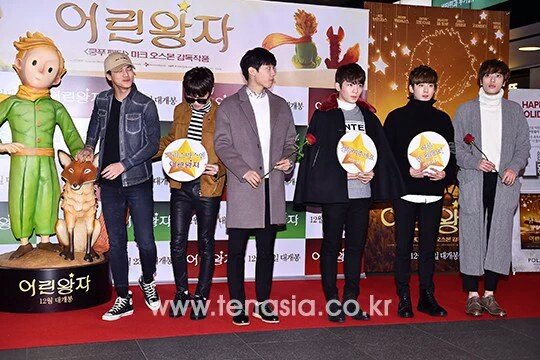 NESWS PHOTO] 151215 # TEENTOP à première du film 'Le Petit Prince' (4) [cr: sur la photo] + TEENTOP ON AIR The New Beginning EP5+