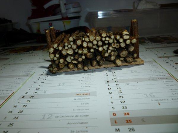 Réalisation d'un rangement pour le bois