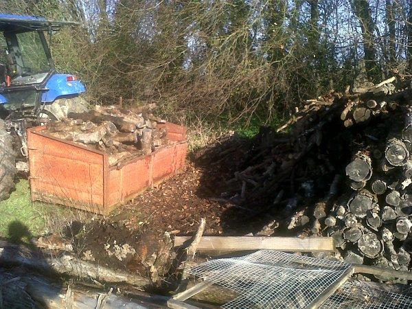 Rangement du bois à l'Angle