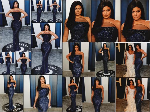 - -► 09/02/20-' : En robe couleur bleue marine - Kylie participait à l'after party de la cérémonie annuelle des « Oscars ».    Habillée par Ralph & Russo, Kylie Jenner était éblouissante sur le carpet. Elle a également posé avec sa grande soeur, Kim Kardashian. Gros top pour K. ! -