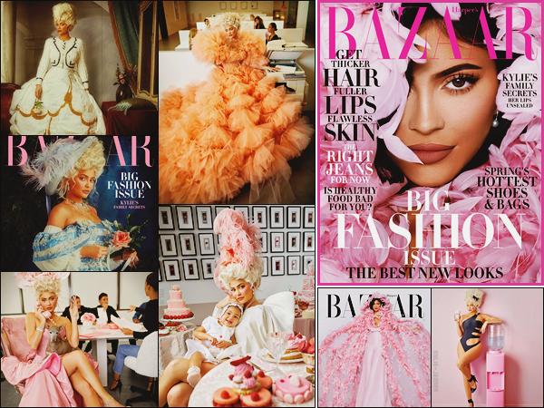 . -► COVER- • Kylie Jenner en couverture du magazine Harper's Bazaar (Mars 2020)..