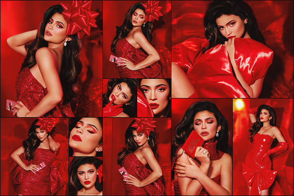 .  ► Kylie Jenner pose pour la campagne de « Holiday Collection » - Kylie Cosmetics..