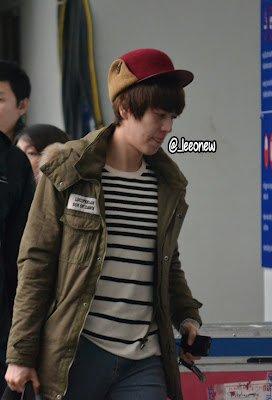 Kyuhyun à l'aéroport de Changi, Singapour