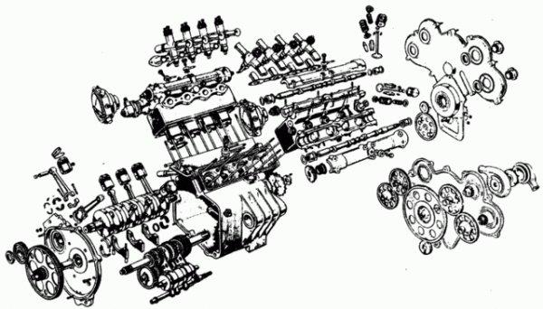 Les motos de vitesses Italiennes :      La Guzzi 500  8 cylindres .