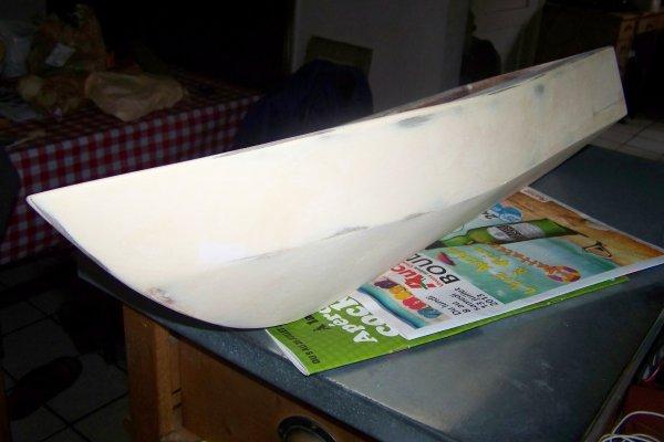 Construire un modéle réduit de bateau . Part 7 .