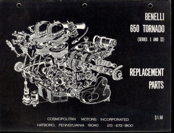 La bécane de la semaine :   La Benelli 650  tornado  1969 .