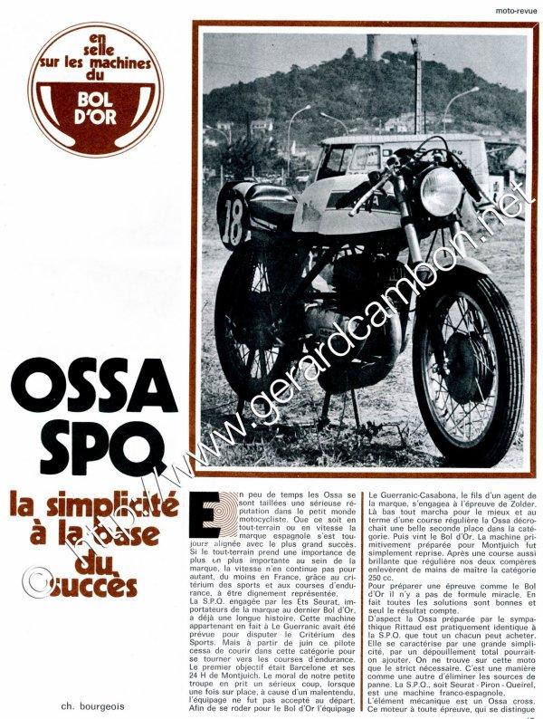 La bécane de la semaine :  La  SPQ  250  ( 1971 / 73 )