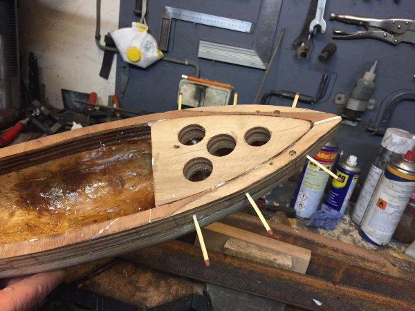"""Restauration d un bateau jouet """" Borda """"  (3)"""