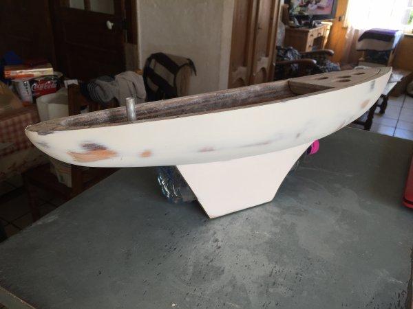 """Restauration d un bateau jouet  """" Borda """"  ( 6 )"""