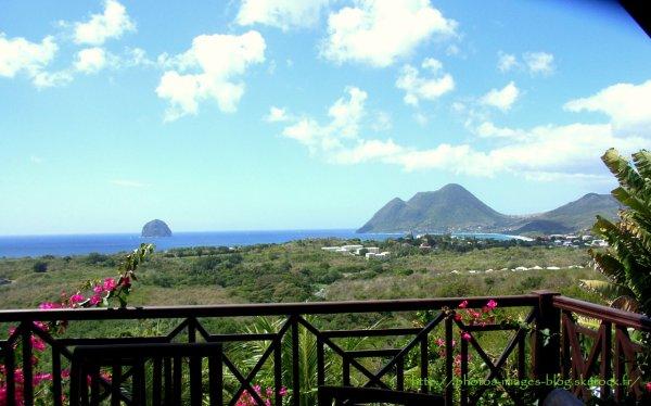 Vue de ma maison en Martinique