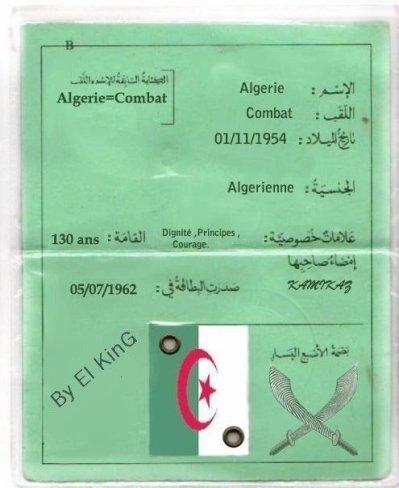 Carte Identite Algerie.Carte D Identite Algerienne Viva Las Algeriann