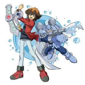 Image Gx Jaden Yuki et Bubbleman