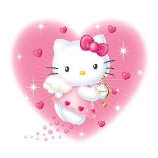 Image Hello Kitty habillée en ange