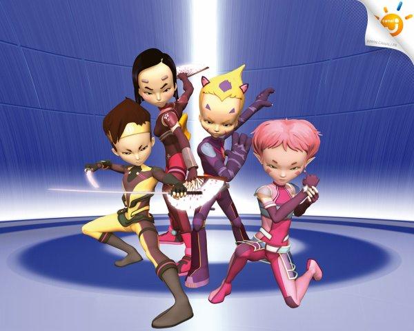 Image Code Lyoko Aelita,Yumi,Odd et Ulrich en lyokos-guerriers