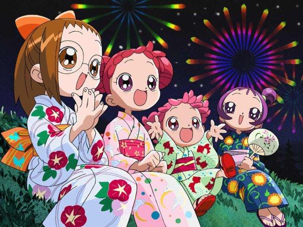 Image Magical Dorémi Dorémi,sa petite soeur Bibi,Emilie et Loulou en kimonos