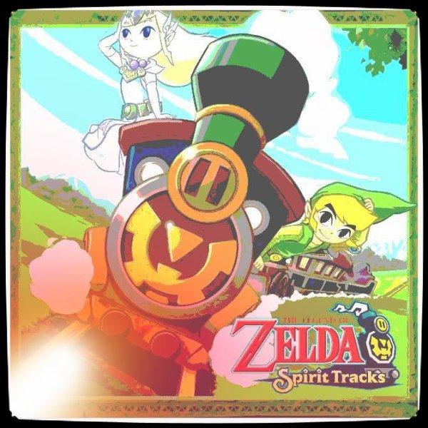 Soluce The Legend of Zelda:Spirit Tracks Les monuments à estampes partie 1 Contrée de la forêt et récompenses du Papy Nico + image retouche Link et Zelda en esprit dans le Train des Esprits