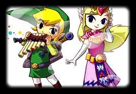 Soluce The Legend of Zelda:Spirit Tracks Les monuments à estampes partie 3 Contrée des mers + image retouche Link qui joue de la flûte et Zelda