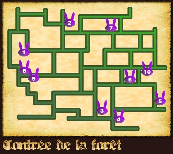 Soluce The Legend of Zelda:Spirit Tracks L'emplacement des lapins partie 1 Contrée de la forêt