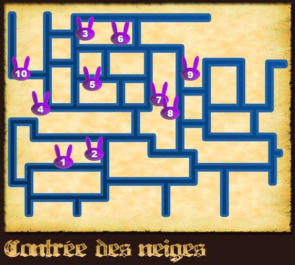 Soluce The Legend of Zelda:Spirit Tracks L'emplacement des lapins partie 2 Contrée des neiges