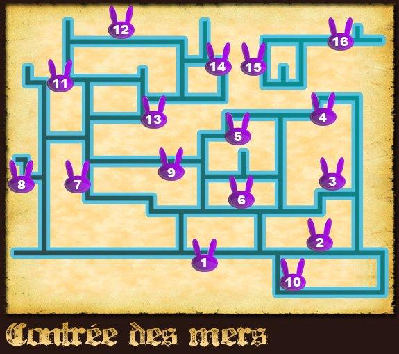 Soluce The Legend of Zelda:Spirit Tracks L'emplacement des lapins partie 3 Contrée des mers