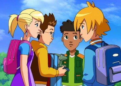 Image Gormiti Jessica,Toby,Lucas et Nick en humains et Rahzel