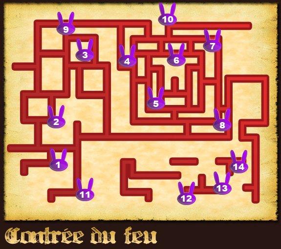 Soluce The Legend of Zelda:Spirit Tracks L'emplacement des lapins partie 4 Contrée du feu