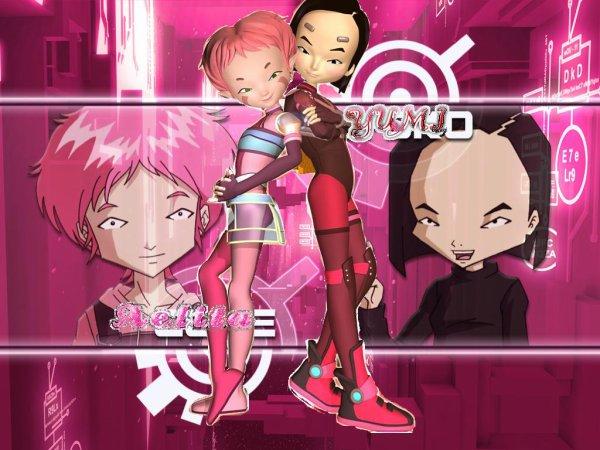 Image Code Lyoko Aelita et Yumi en lyokos-guerrières et en humaines