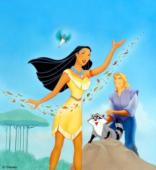 Image Pocahontas,John Smith,Meiko et Flip