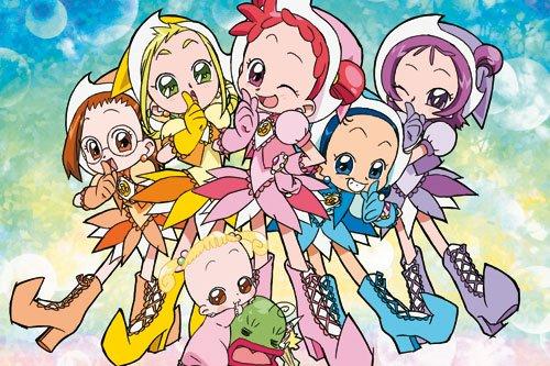 Image Magical Dorémi Dorémi,Emilie,Sophie,Loulou et Mindy en apprenties-sorcières,Flora en bébé et Maggie Grigri en grenouille saison 3