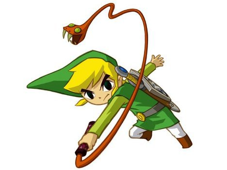 Soluce The Legend of Zelda:Spirit Tracks Le Club Beedle + image Link qui utilise le fouet