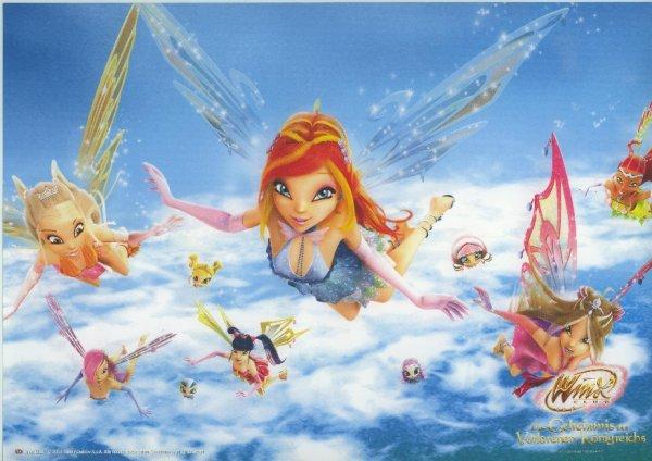 Image Winx Club Bloom,Stella,Flora,Layla,Musa et Tecna en Enchantix,Chatta,Piff,Tune et Digit 3d