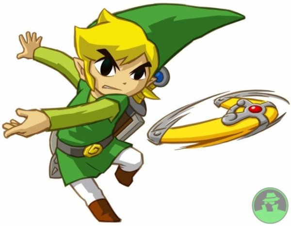 Soluce The Legend of Zelda:Spirit Tracks Les trains + image Link qui utilise le boomerang