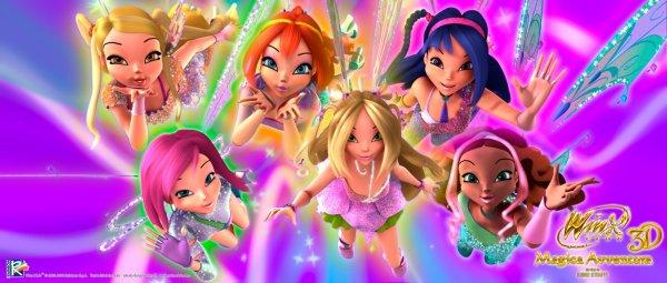 Image Winx Club Bloom,Stella,Flora,Layla,Musa et Tecna en Believix 3d