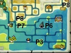 Soluce The Legend of Zelda:Spirit Tracks L'emplacement des portails de téléportation partie 3 Contrée des mers