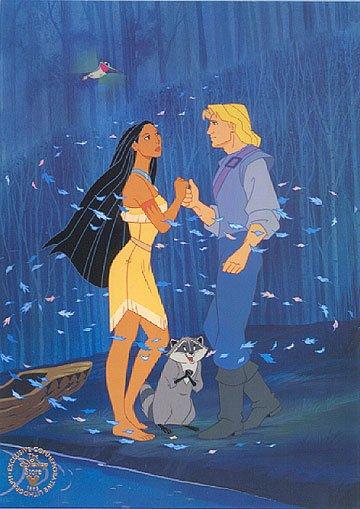 Image Pocahontas,Meiko,Flip et John Smith