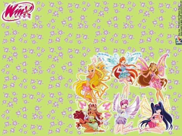 "Paroles de ""Ensembles"" + image Winx Club Bloom,Stella,Flora,Layla,Musa et Tecna en Enchantix"