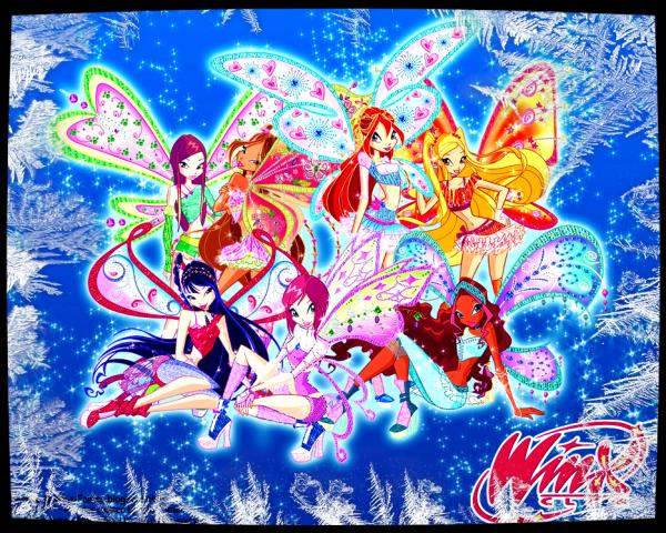 Image retouche Winx Club Bloom,Stella,Flora,Layla,Musa,Tecna et Roxy en Believix