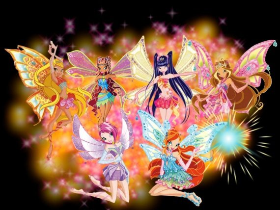 Image Winx Club Bloom,Stella,Flora,Layla,Musa et Tecna en Enchantix