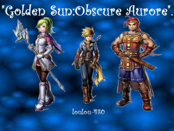 Montage Golden Sun:Obscure Aurore Matt,Kiara et Eoléo créé par blog-zah