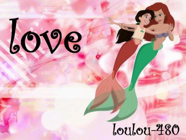 Montage La Petite Sirène et sa fille Mélodie créé par blog-zah