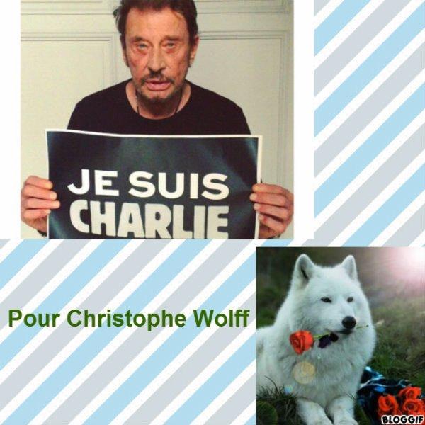 Montage Johnny Hallyday et un loup créé par moi pour Christophe Wolff