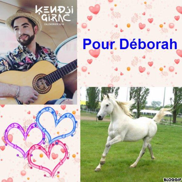 Montage Kendji Girac et un cheval créé par moi pour Déborah