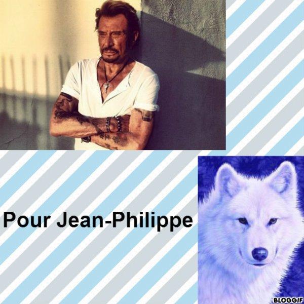 Montage Johnny Hallyday et un loup créé par moi pour Jean-Philippe