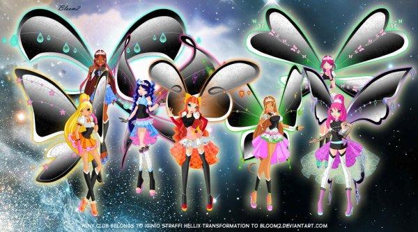 Image Winx Club Bloom,Stella,Musa,Layla,Flora,Roxy et Tecna en Hellix