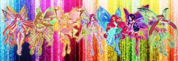 Image Winx Club Bloom,Stella,Musa,Layla,Flora,Roxy et Tecna en Personix