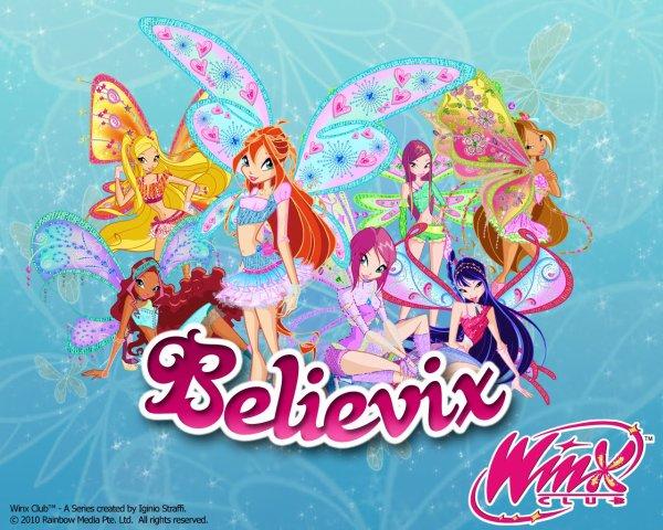 Image Winx Club Bloom,Stella,Layla,Flora,Musa,Roxy et Tecna en Believix