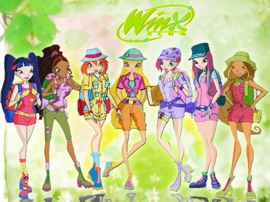 Image Winx Club Bloom,Roxy,Stella,Musa,Layla,Tecna et Flora en humaines