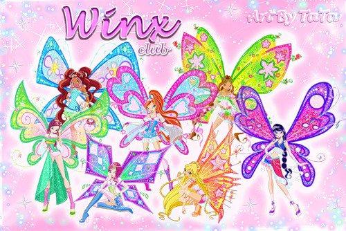 Image Winx Club Bloom,Stella,Flora,Layla,Musa,Tecna et Roxy en Flyrix