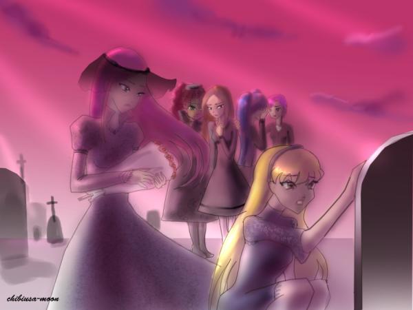 Image Winx Club Stella,Flora,Layla,Musa,Tecna et Roxy en humaines